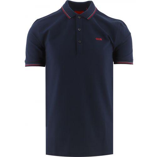 HUGO Navy Dinoso 212 Polo Shirt