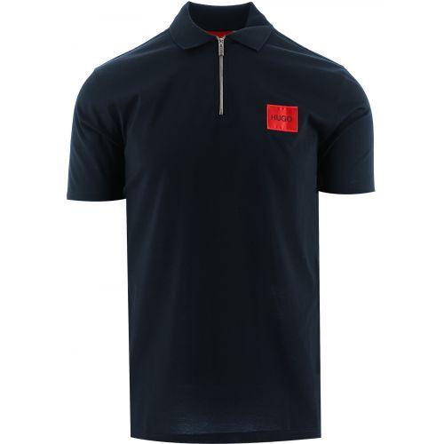 HUGO Dark Blue Deresom Polo Shirt