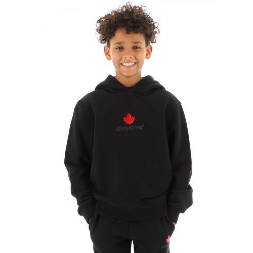 DSQUARED2 Kids Black Leaf Hoodie