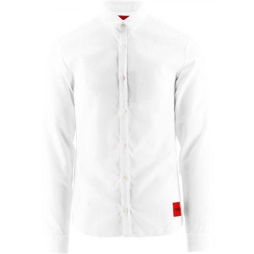 HUGO White Ero3 Extra Slim Fit Shirt