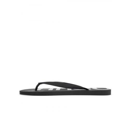 HUGO Black Logo Detail Flip Flops