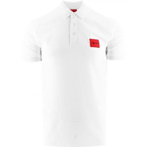 HUGO White Dereso 212 Polo Shirt