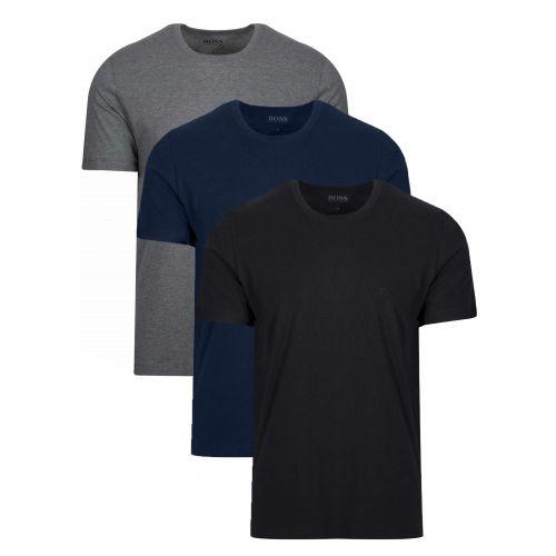 BOSS Multi Coloured Three Pack Crew Neck T Shirt