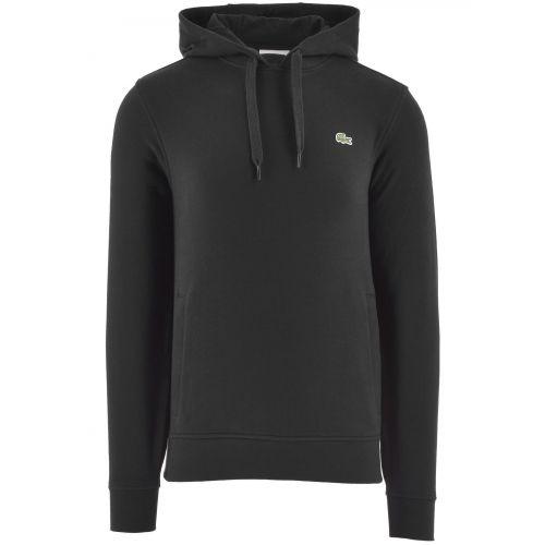 Lacoste Black Hooded Fleece Sweatshirt